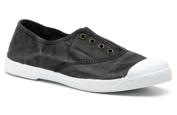 Vegane Sommerschuhe Ingles Bordado schwarz von Natural World