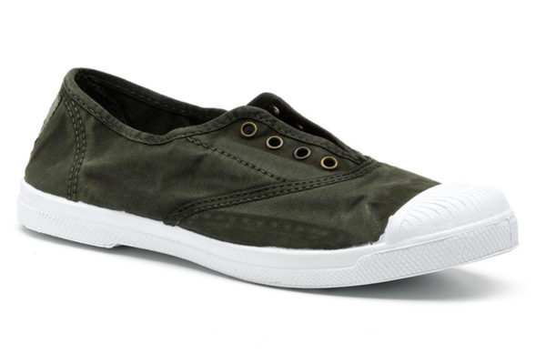 Vegane Sommerschuhe Ingles Bordado khaki von Natural World