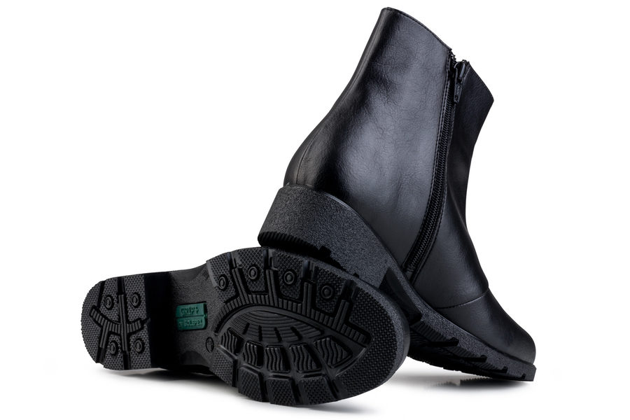 Vegane Damenschuhe Grip+ Ancle Boot in schwarz von Eco Vegan Shoes