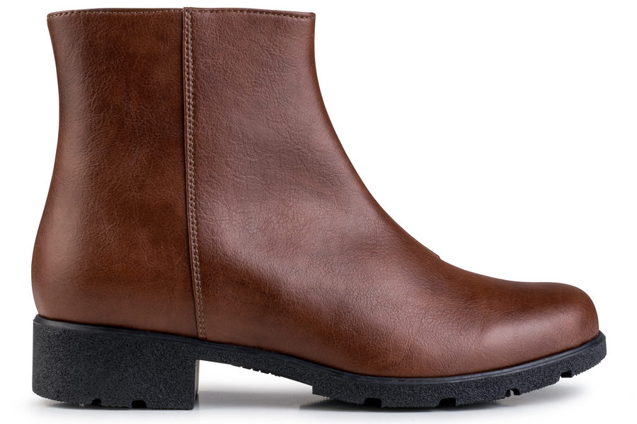 Vegane Stiefelette Grip+ Ancle Boot in braun von Eco Vegan Shoes