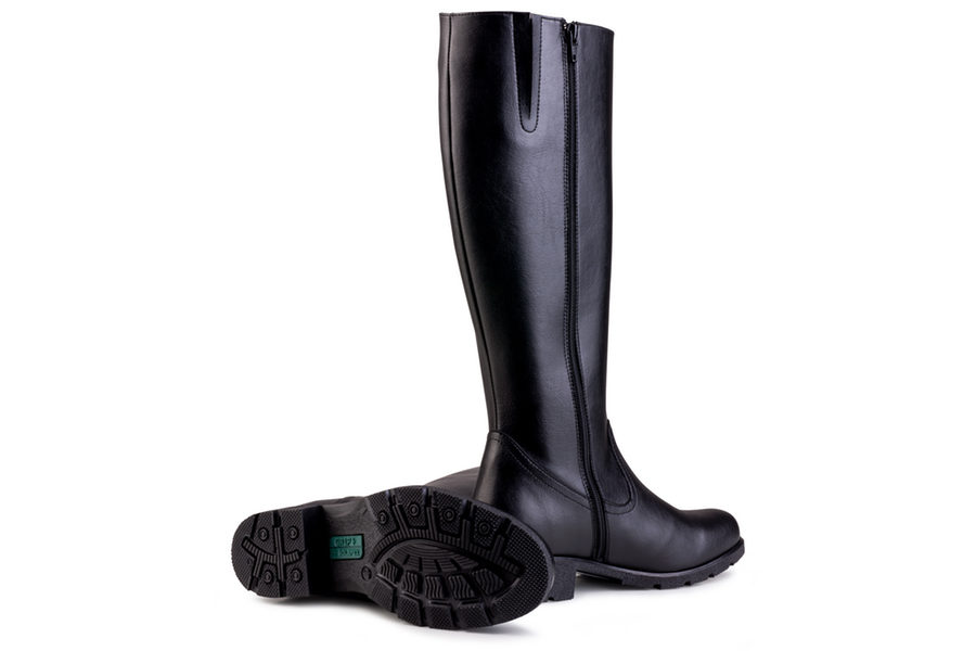 Vegane Stiefel Grip+ Knee High Boot in schwarz von Eco Vegan Shoes