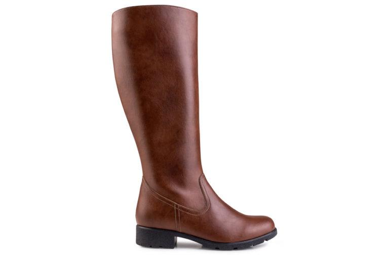 Vegane Stiefel Grip+ Knee High Boot in braun von Eco Vegan Shoes