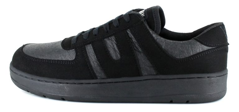 Pinatex Sneaker Pineapple Supreme in schwarz / grau von Vegetarian Shoes