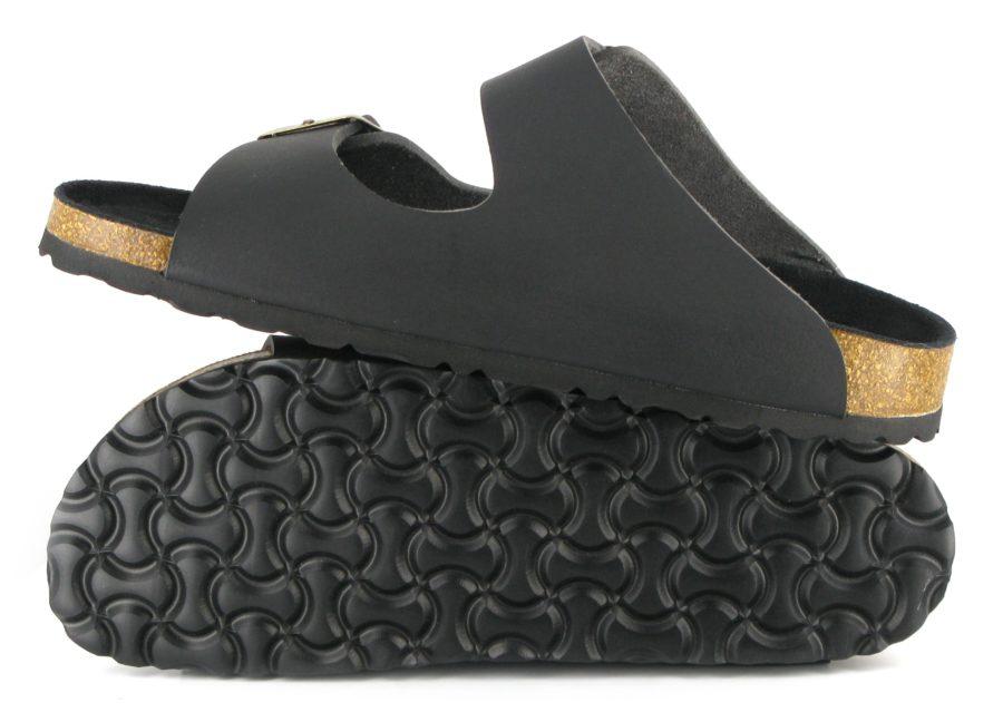 Vegane Sandalen Two Strap in schwarz von Vegetarian Shoes