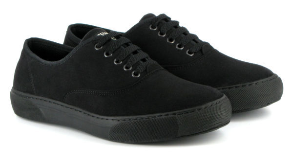 Vegane Sneaker Kennedy in schwarz von Vegetarian Shoes