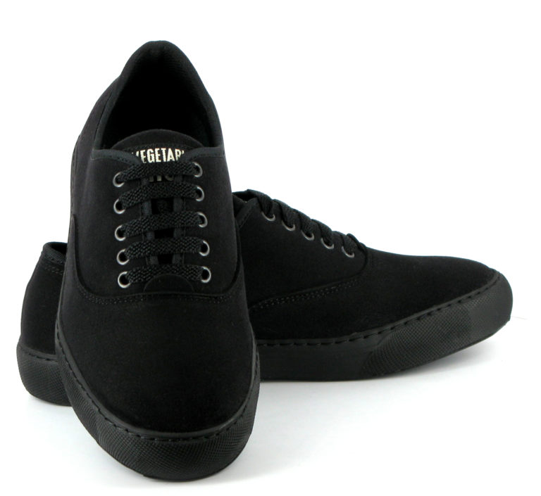 Vegane Sneaker Kennedy in schwarz von Vegetarian Shoes