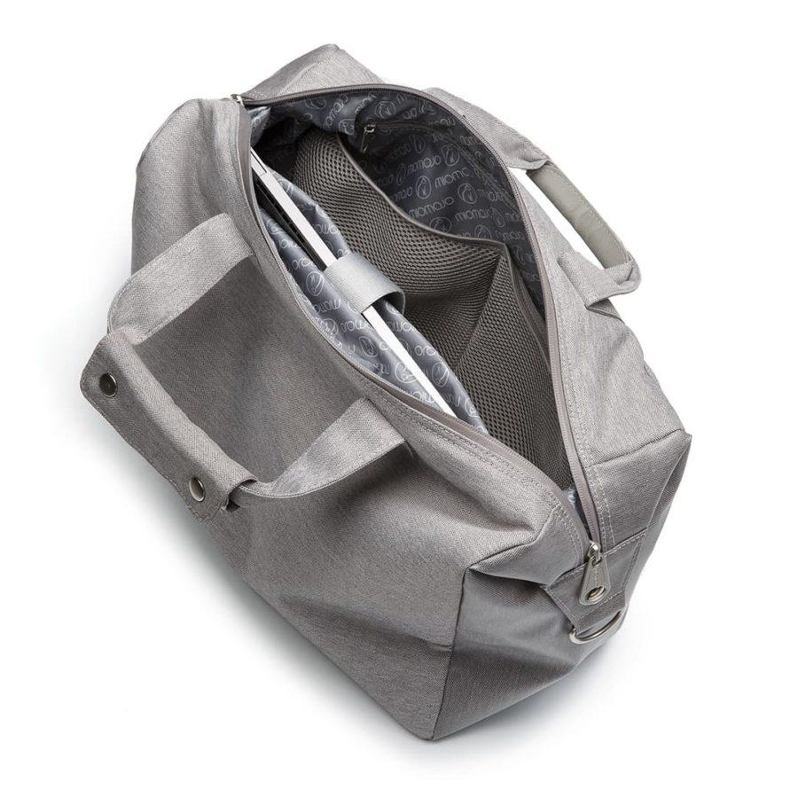 Vegane Tasche Urban Bowler in hellgrau von Miomojo