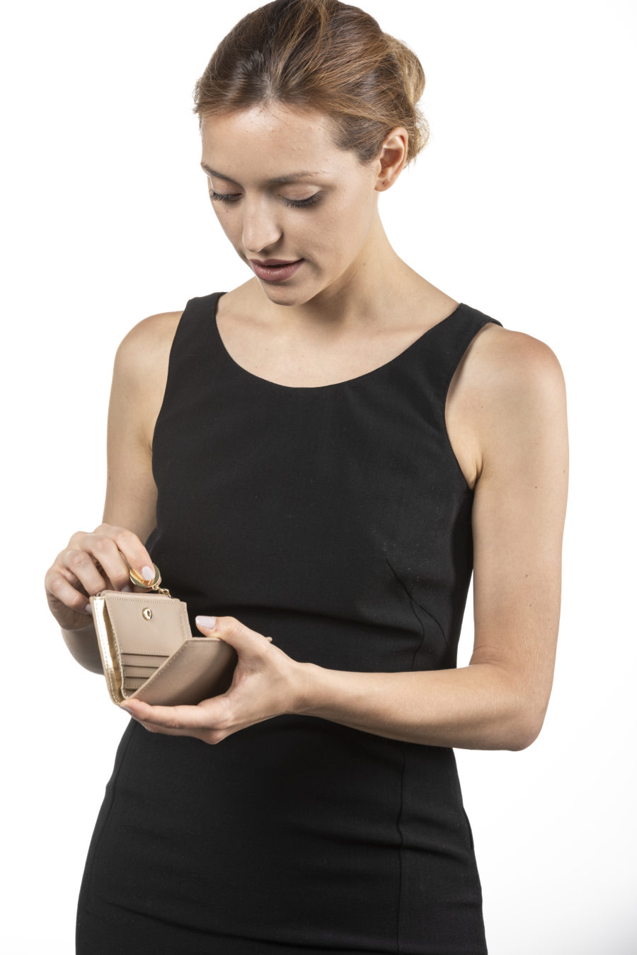 Vegane Geldbörse Cloe in beige von Miomojo