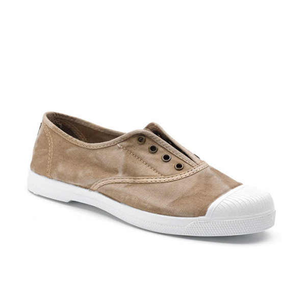 Vegane Sneaker Ingles bordado von Natural World in beige