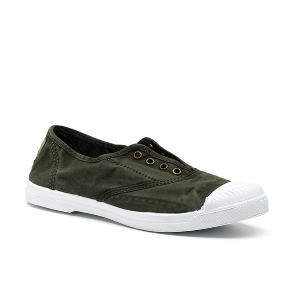 Vegane Sneaker Ingles bordado von Natural World in khaki