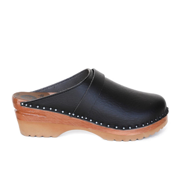 Vegane Clogs Da Vinci in schwarz von Good Guys