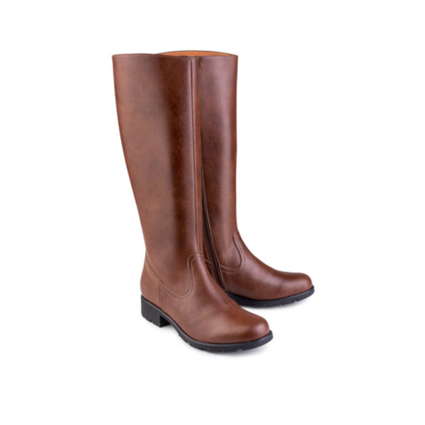 Vegane Stiefel Grip+ Knee High Boot in braun von Eco Vegan Shoes