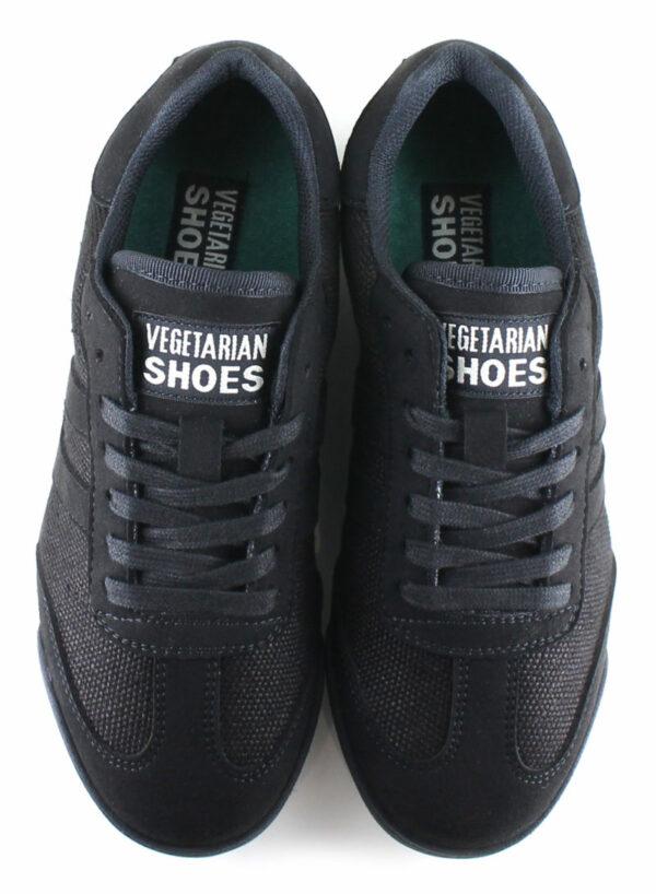 Vegane Sneaker Panther Hemp in schwarz von Vegetarian Shoes